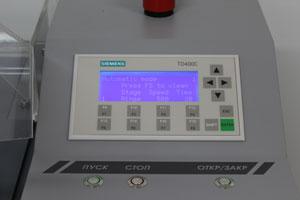 Установка отмывки пластин WCS-200 - Графический дисплей